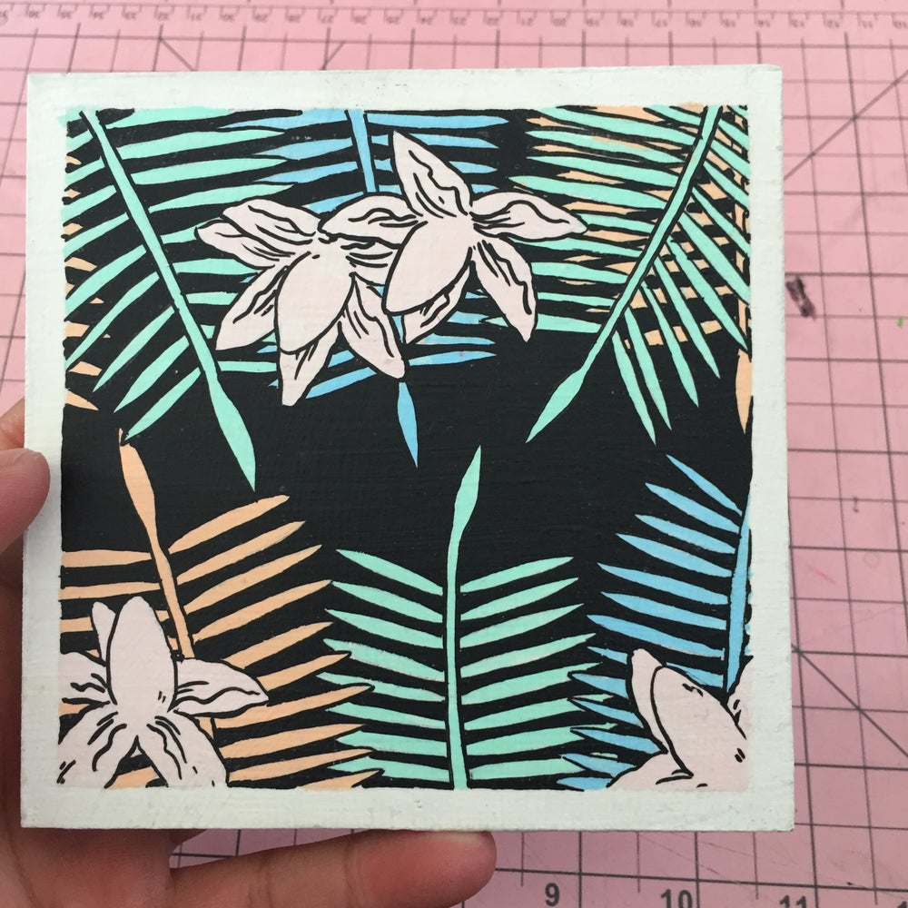 Image of Palm Leaves 2 Painting