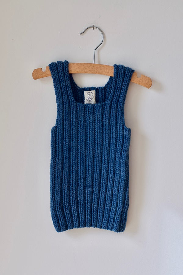 Image of Indigo Wool Vest