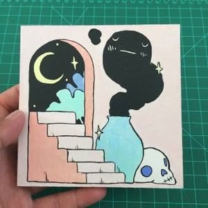 Image of Haunted Stairways Painting
