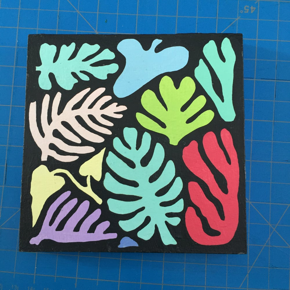 Image of Colored Leaves 2 Painting