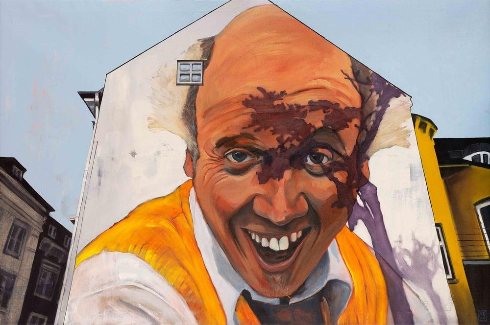 Image of Mural Clown, giclee print