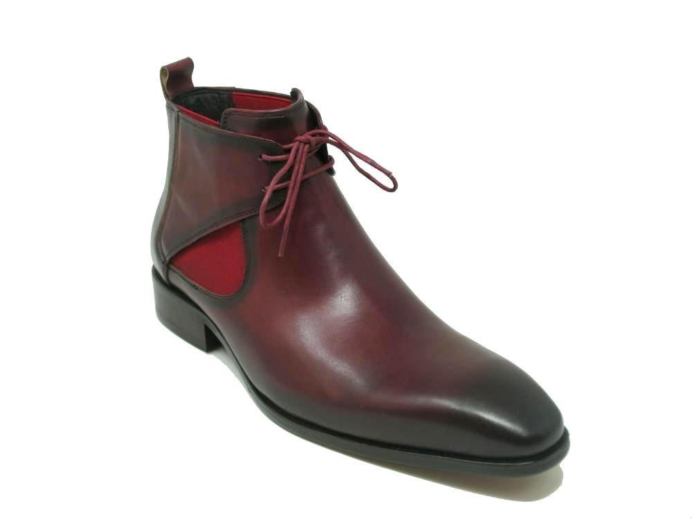 Image of Calfskin Lace-up Chukka Boots (Carrucci)