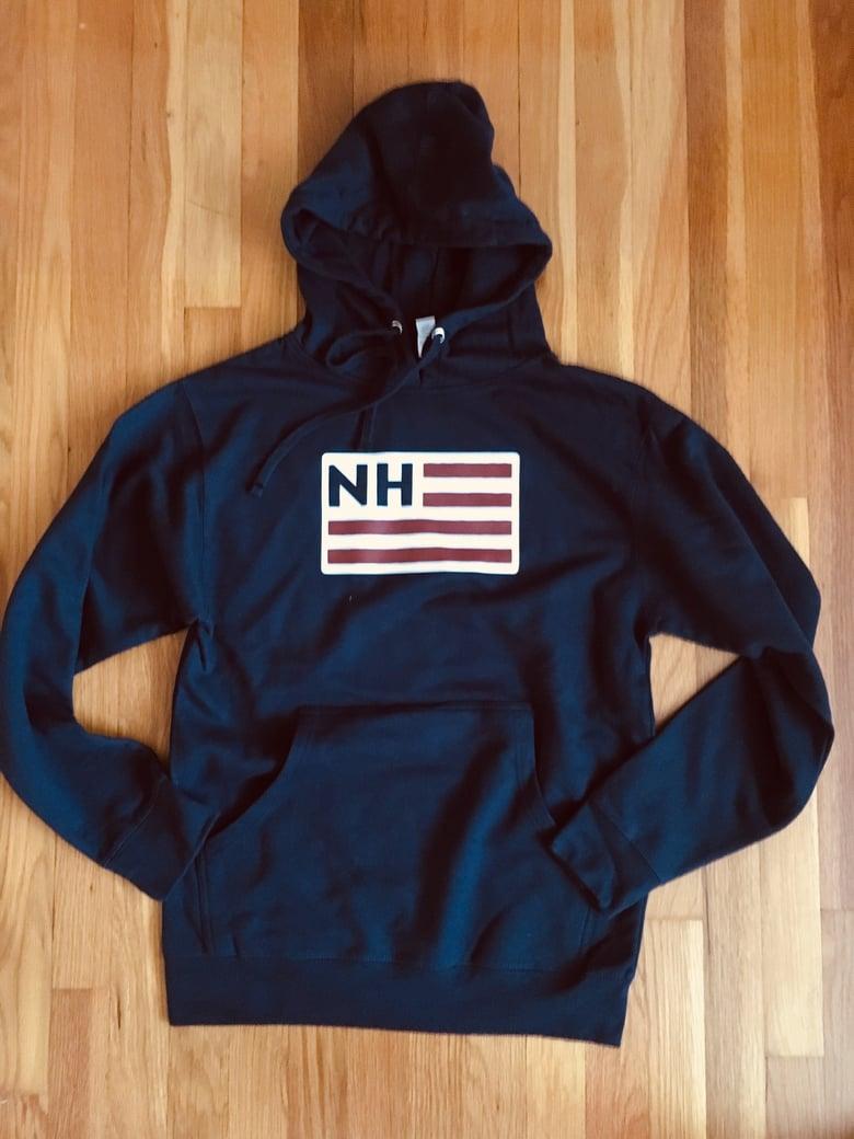 Image of NH Flag logo Hoodie - Navy