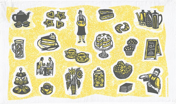 Image of 'Cafe' tea towel