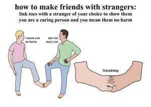 Image of How to make friends with strangers