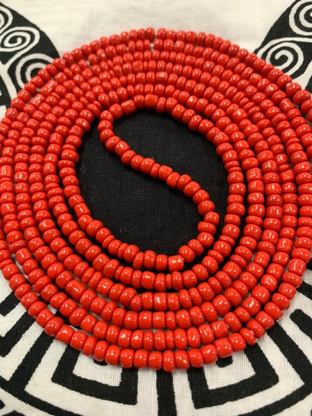 "Image of Ruby Woo -African Waist beads (fits up to a 54"" waist)"