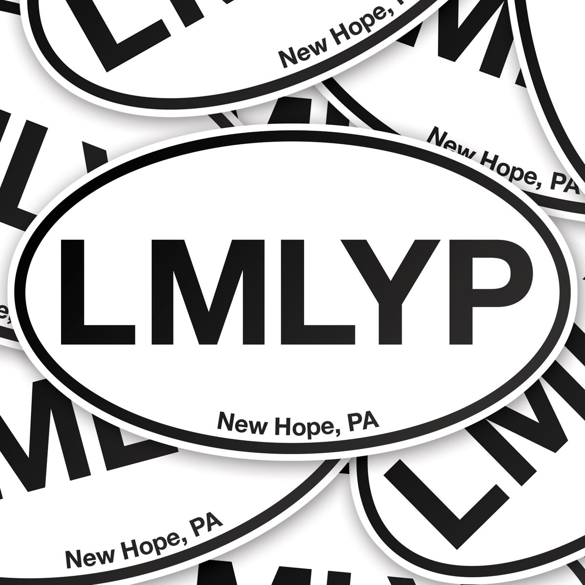 """LMLYP"" oval vinyl sticker"