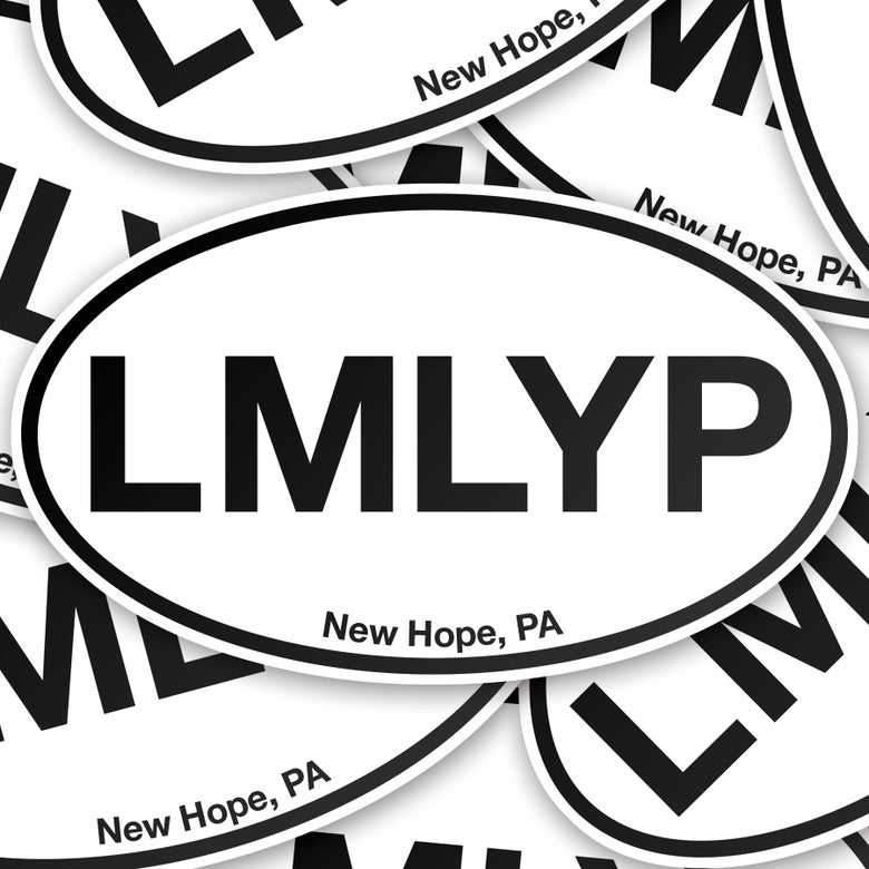 "Image of ""LMLYP"" oval vinyl sticker"