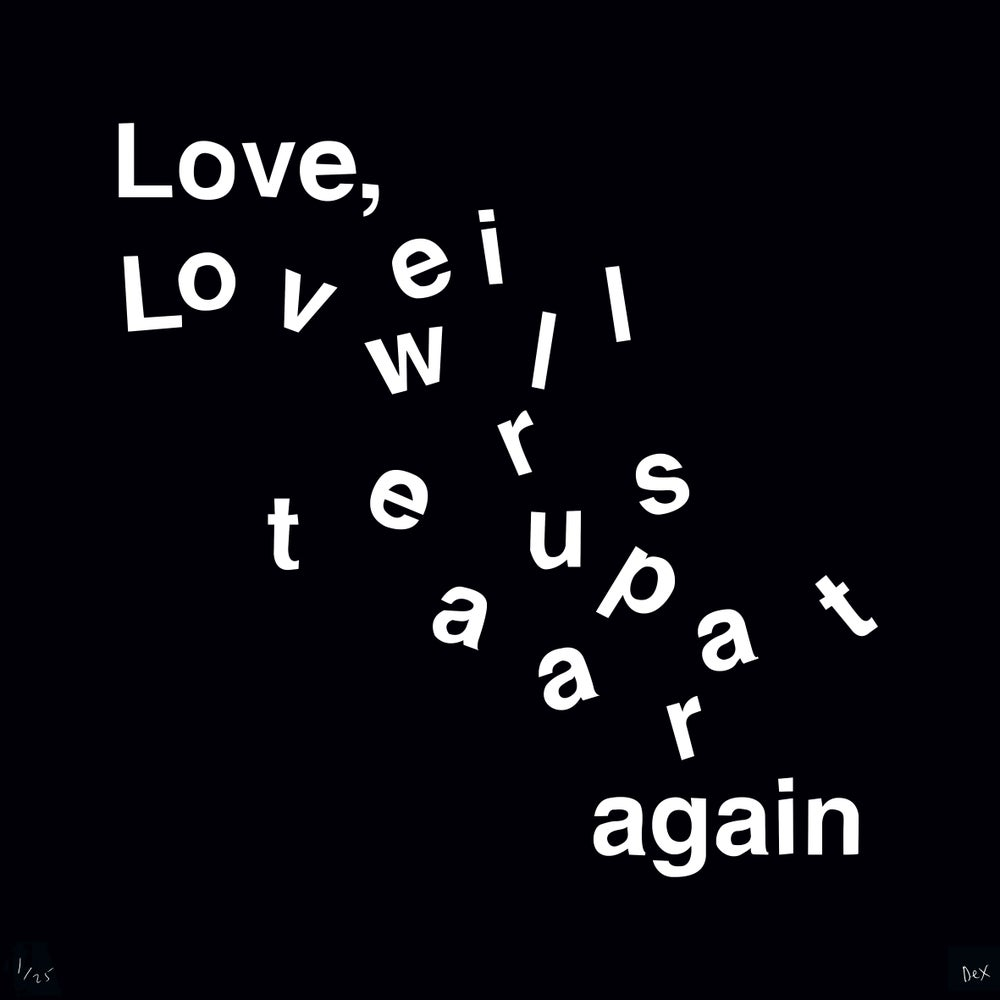 Image of Love Will Tear Us Apart (Black)