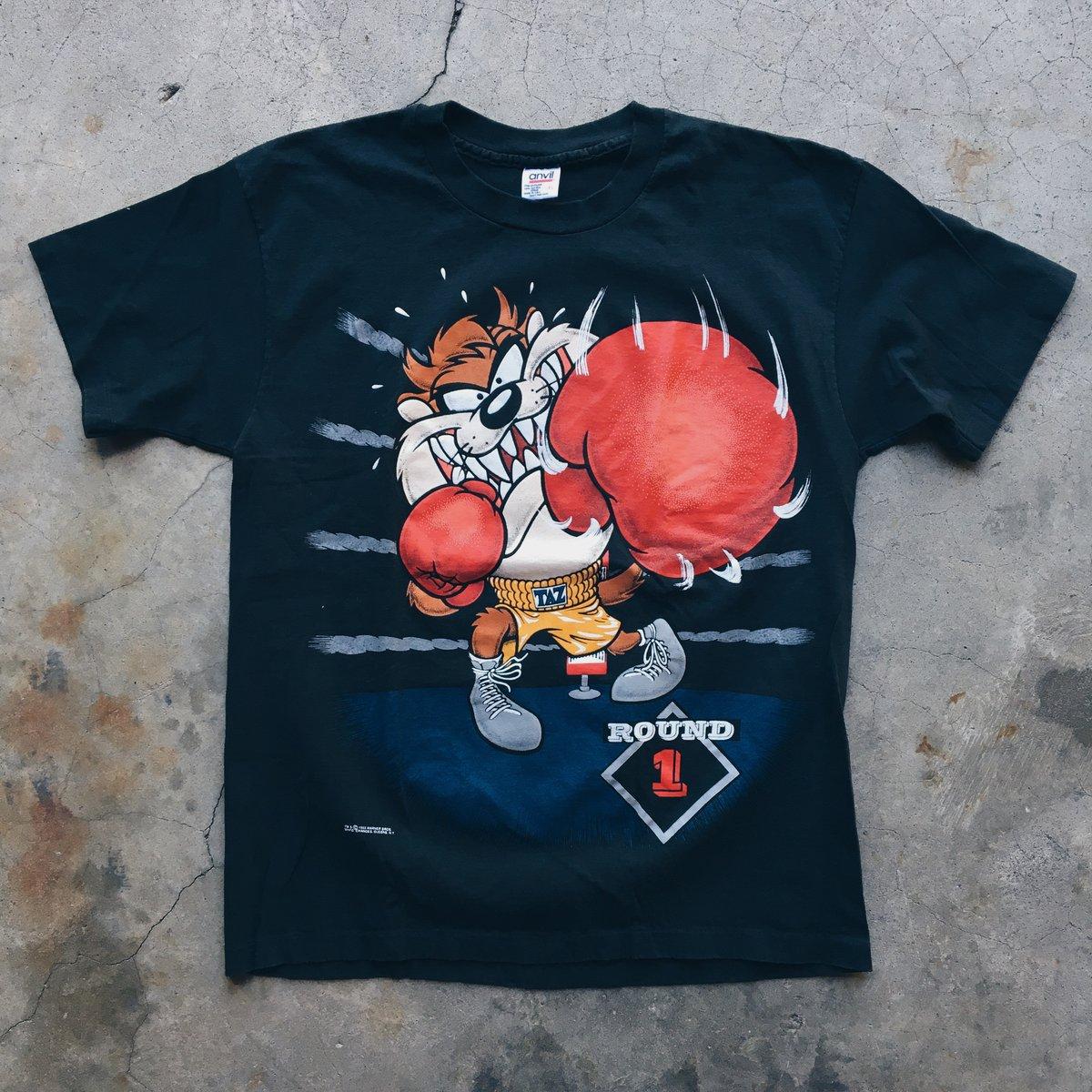 Image of Original 1993 Warner Bros Taz Boxing Tee.