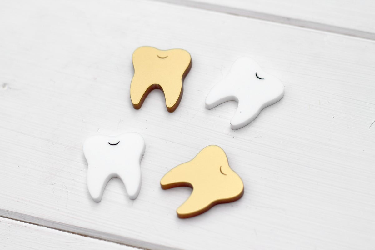 Image of White Teeth Studs