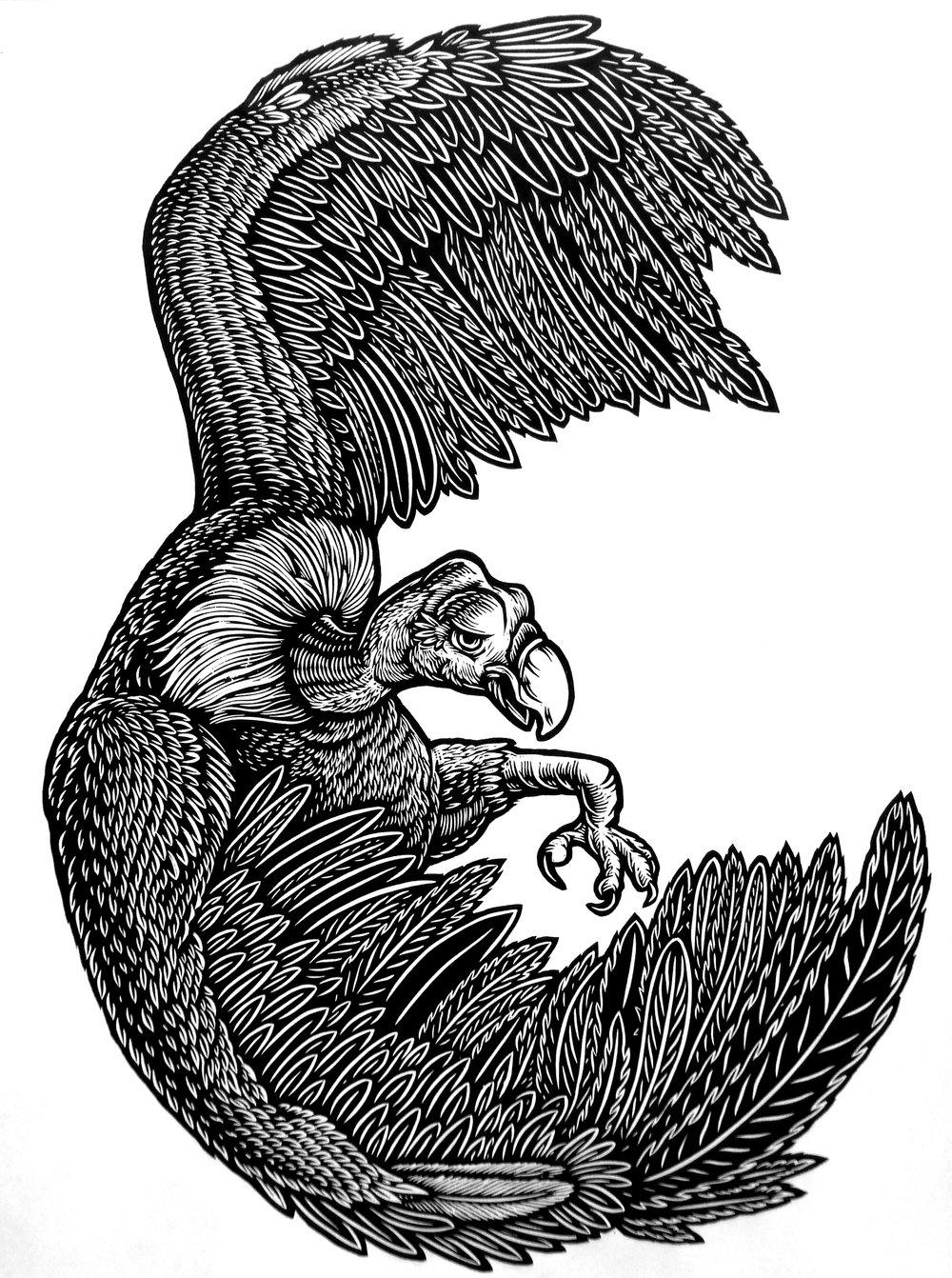 Vulture Noosh! XL - T-shirt **FREE SHIPPING**