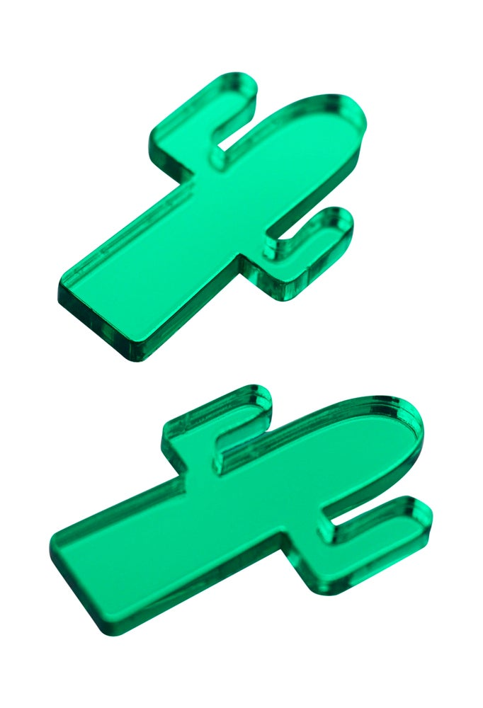 Image of Mirror Green Cactus Studs