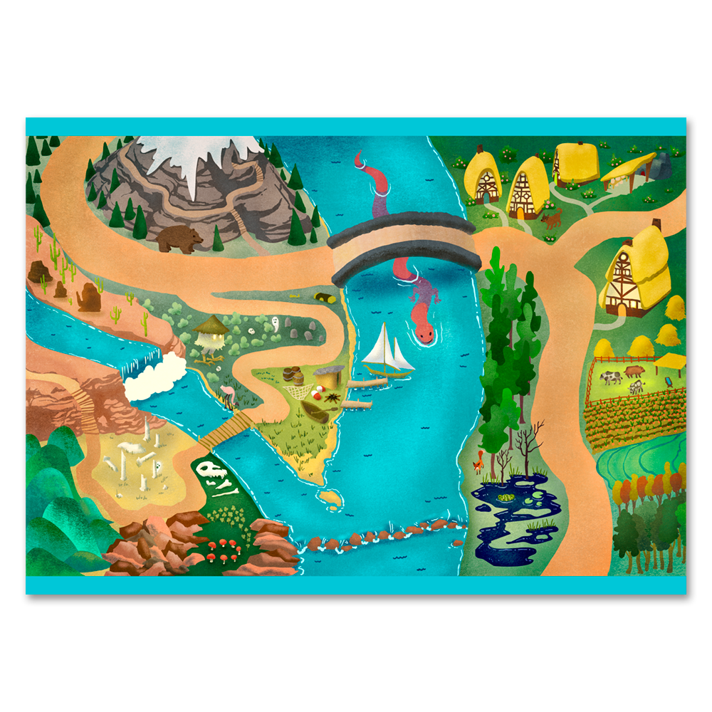 Image of Realm of the River Dragon - Playmat/Tapestry