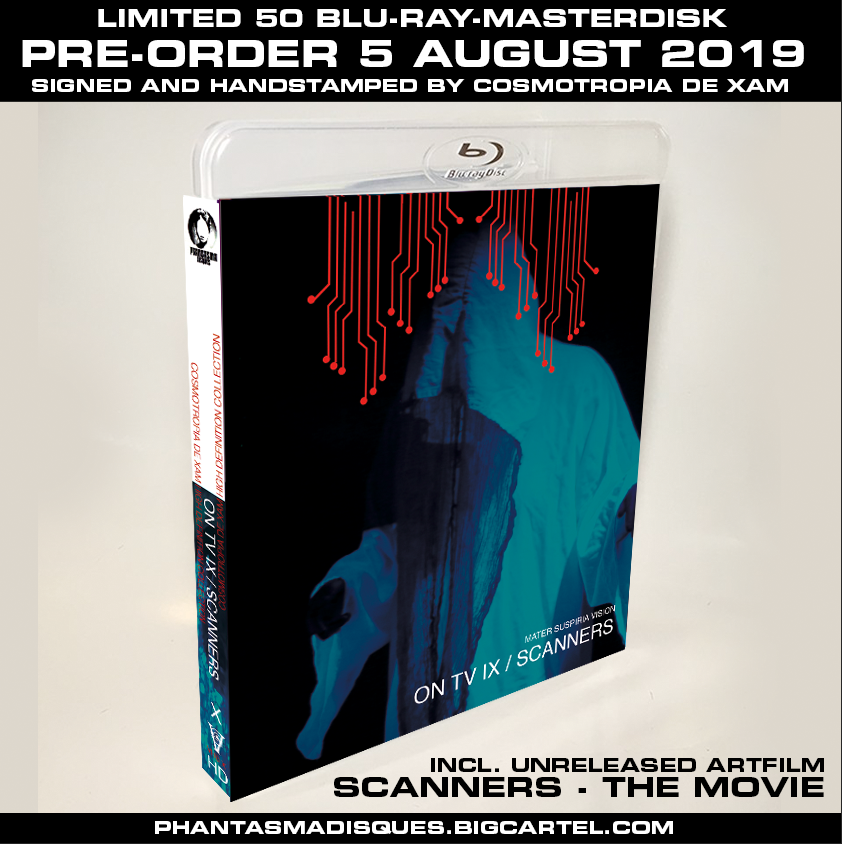 Image of ON TV IX + SCANNERS - THE MOVIE LIMITED 50 SIGNED/STAMPED BLU-RAY-R DESIGN C