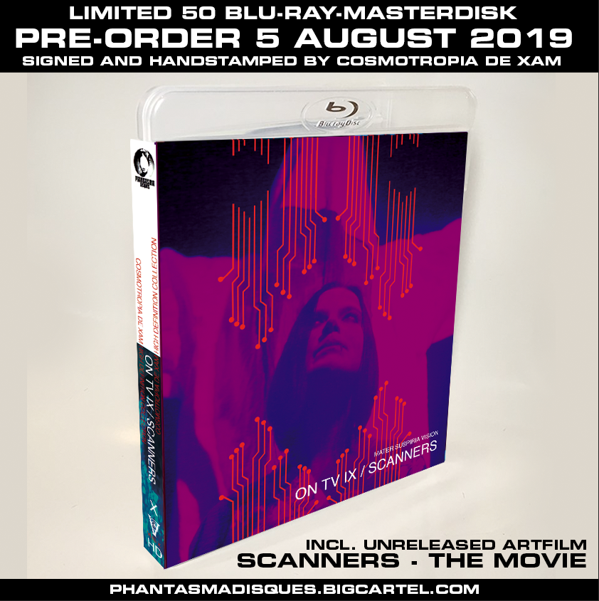 Image of ON TV IX + SCANNERS - THE MOVIE LIMITED 50 SIGNED/STAMPED BLU-RAY-R DESIGN B