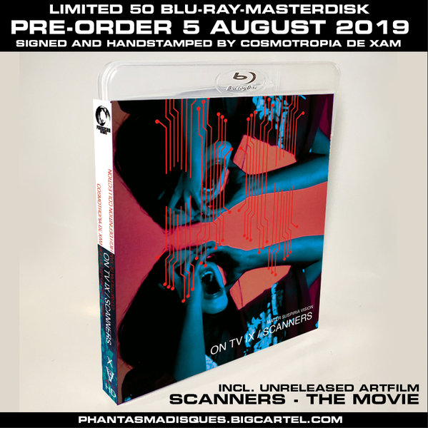 Image of ON TV IX + SCANNERS - THE MOVIE LIMITED 50 SIGNED/STAMPED BLU-RAY-R DESIGN A