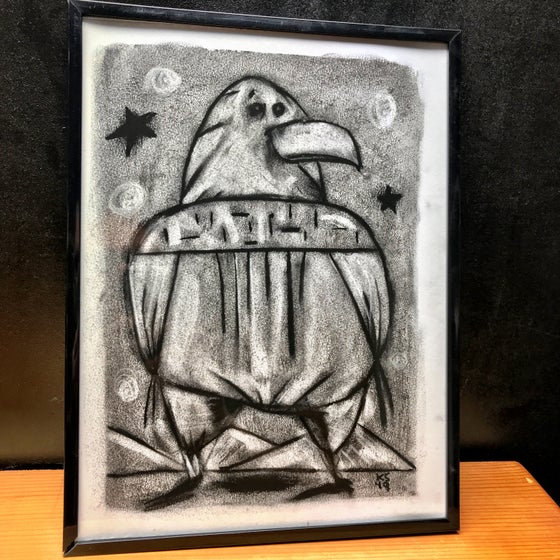 Image of Kevin Seconds ORIGINAL 9x12 Charcoal/High Grade Paper, 'My Idealism Is Not Where I'd Like It To Be'