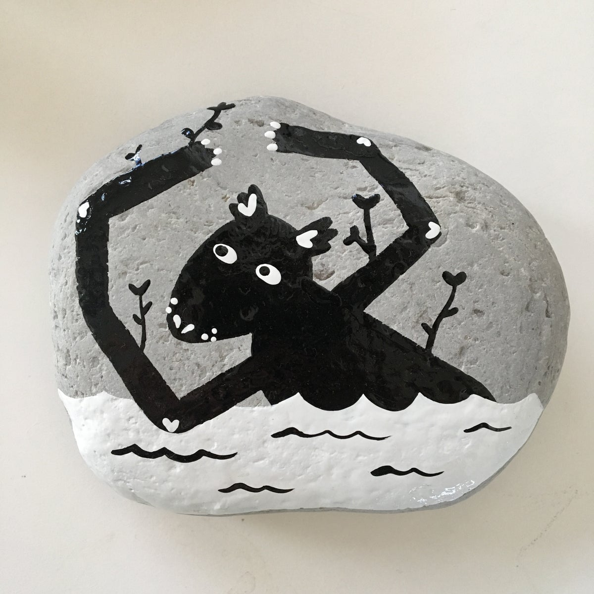 Image of Protection Stone - Water Wolf