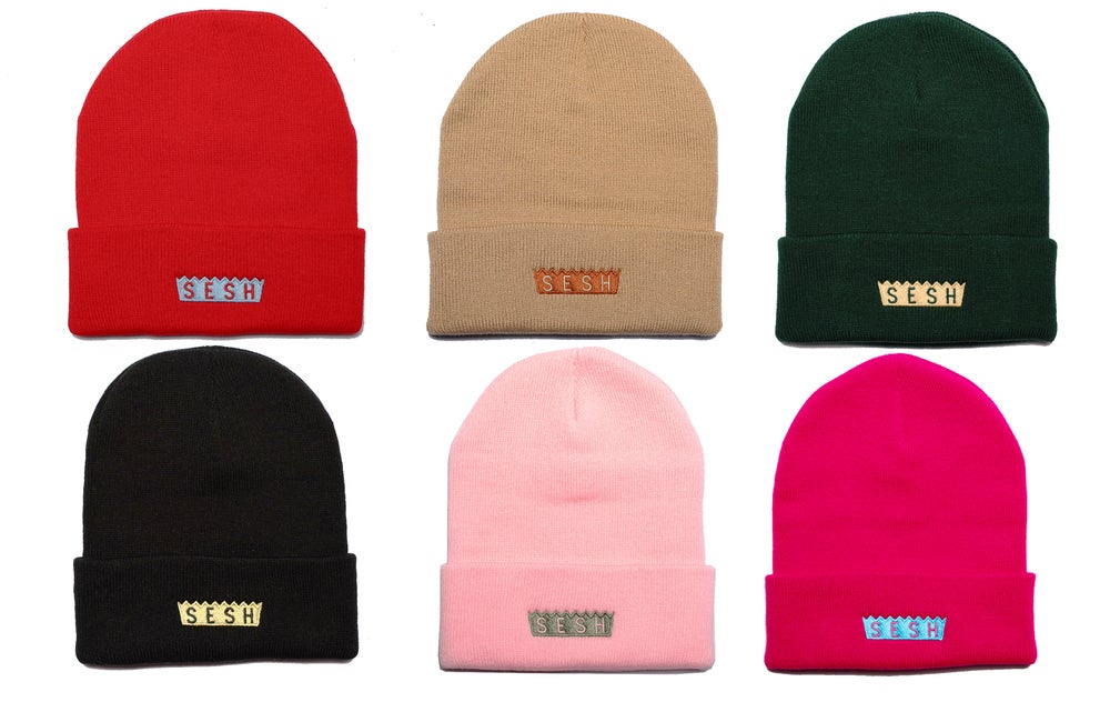 Image of Embroidered SESH Beanie