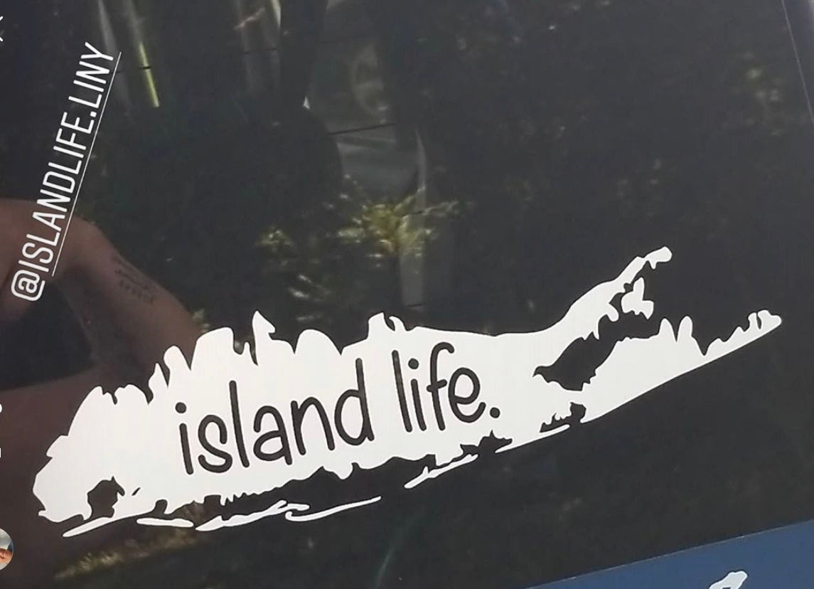 Image of Island Life Logo Decal - White