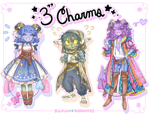 "Image of CritRole 3"" Acrylic Charms"