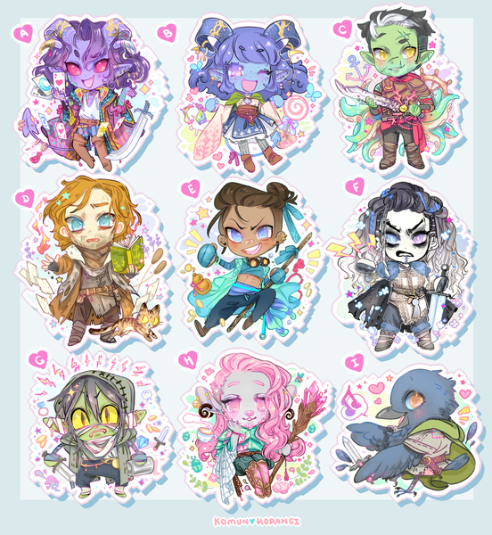 "Image of CritRole 2"" Acrylic Charms"