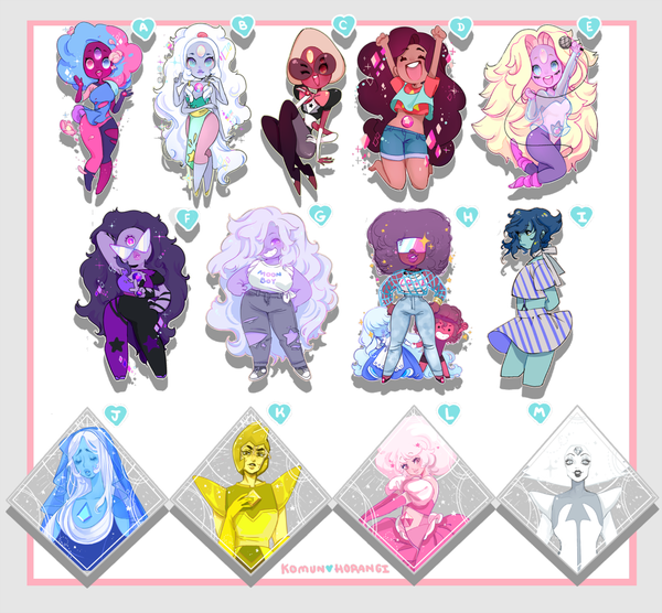 "Image of Steven Universe 3"" Acrylic Charms"