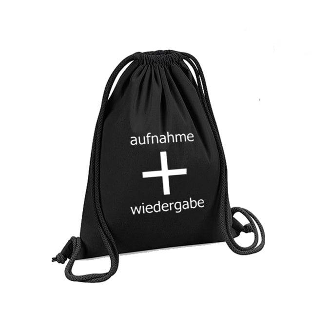 Image of aufnahme + wiedergabe Logo Gym Bag