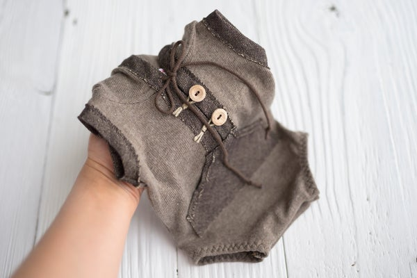 Image of Douglas brown romper / two sizes