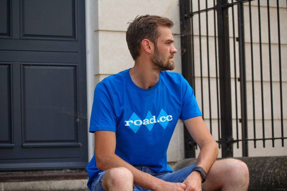 Image of Classic road.cc logo tee - Bright Blue
