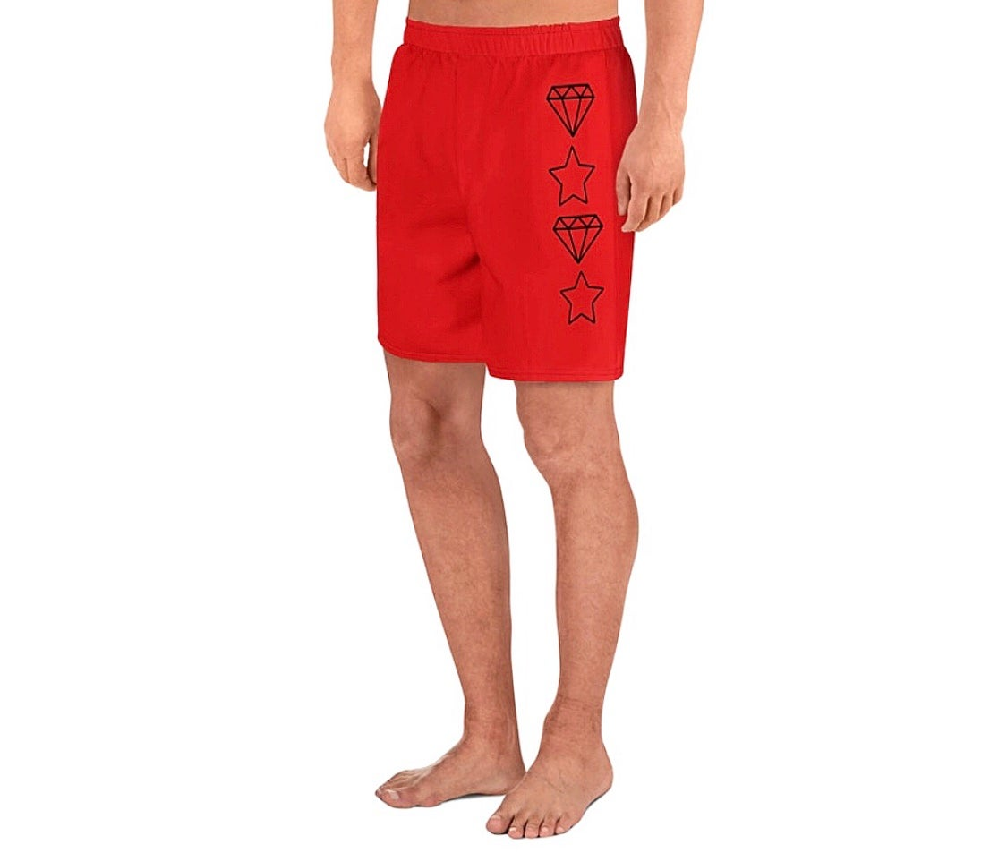 Image of Diamond Star Shorts (Red)