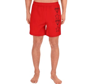 Image of Diamond Star Shorts (Red)