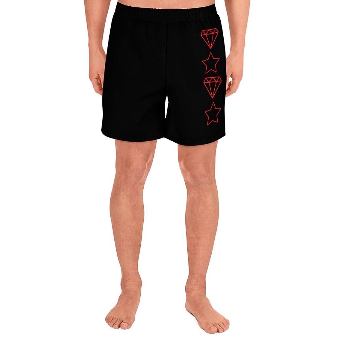 Image of Diamond Star Shorts (Black)