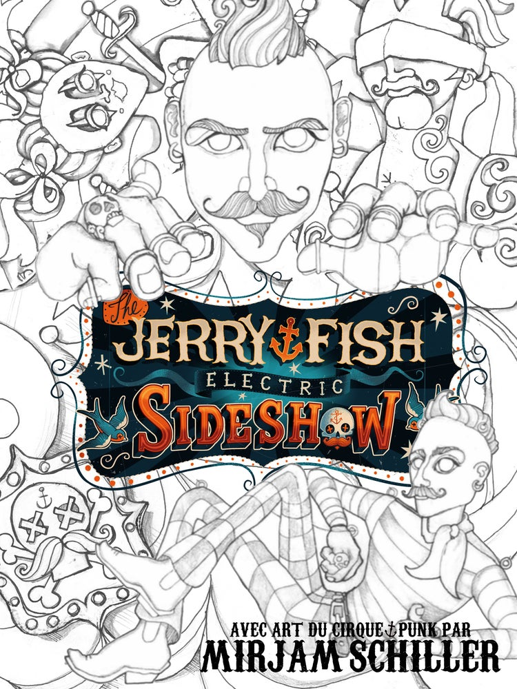 Image of The Jerry Fish Electric Sideshow Colouring Book