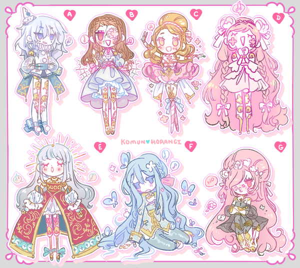 Image of Chibi Balljointed Doll Stickers