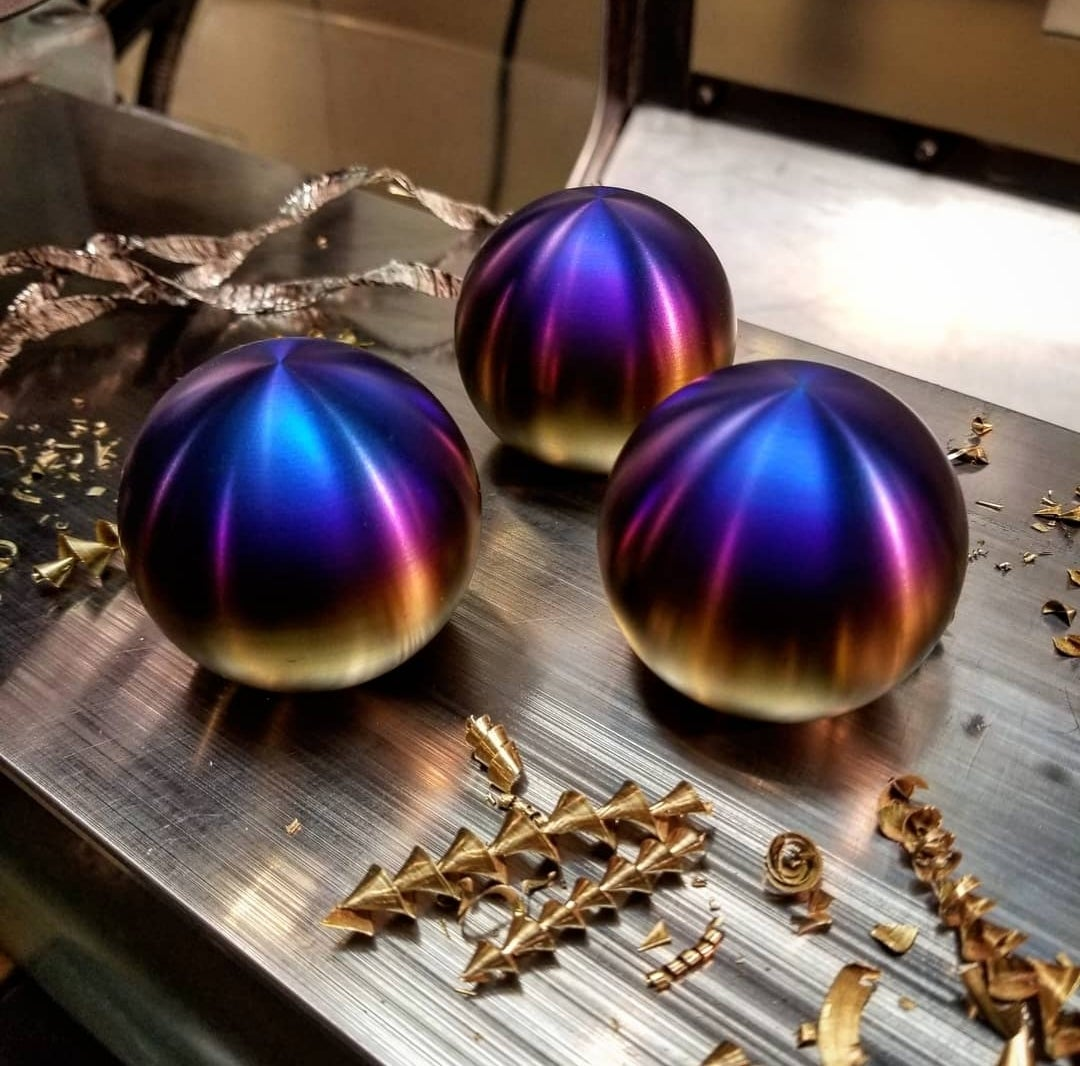 Image of Titanium Chrome Sphere Shift Knob/Reverse Lockout