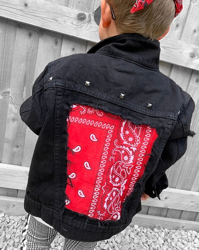 Image of Black Studded Denim Jacket