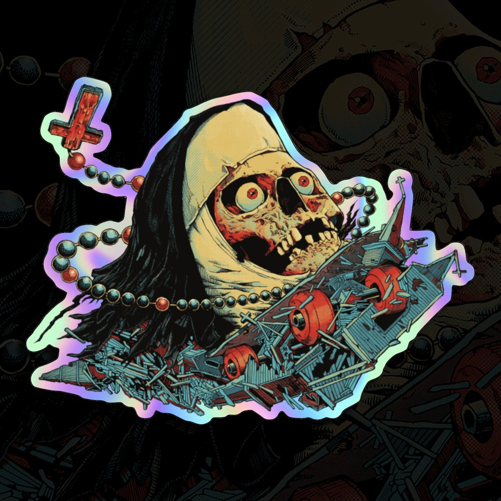 Image of Nunskull Holographic Satin Matte Sticker