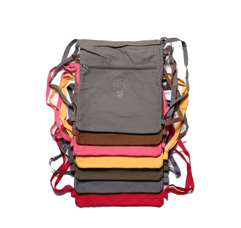 Image of Seshskull embroidered bookbag