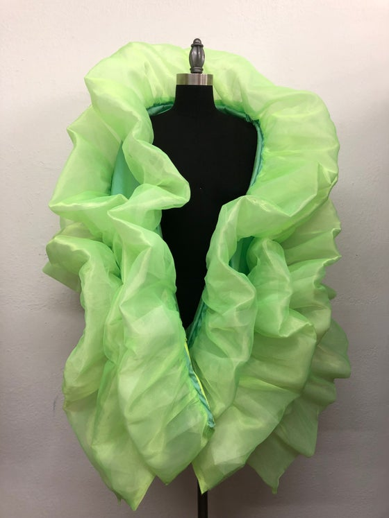 Image of Petite ruffle ruffle bag in neon green