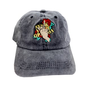 "Image of Distressed ""FXCK Your Opinion"" Hat"