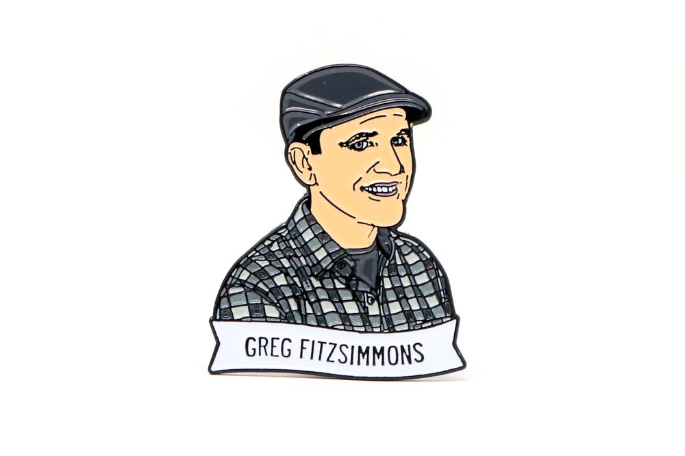 Image of Greg Fitzsimmons Enamel Pin
