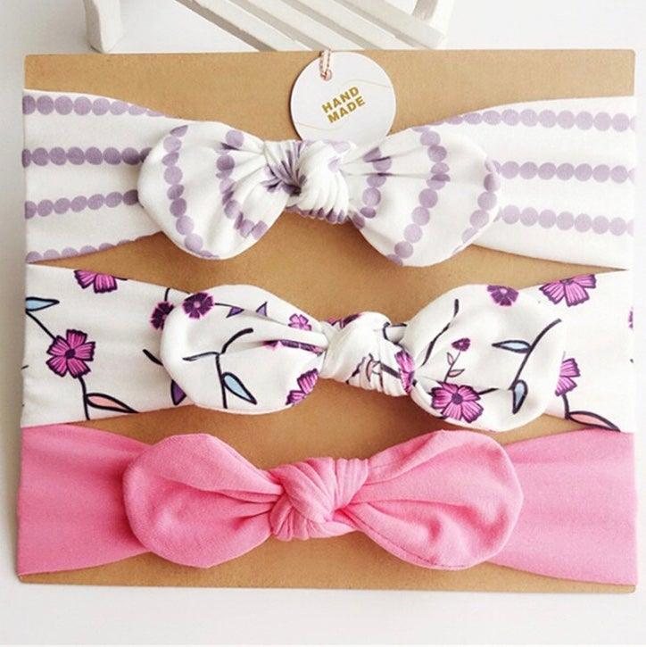 Image of Headbands gift set - Purple florals