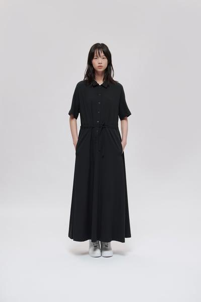 Image of TRAN - 襯衫綁帶洋裝