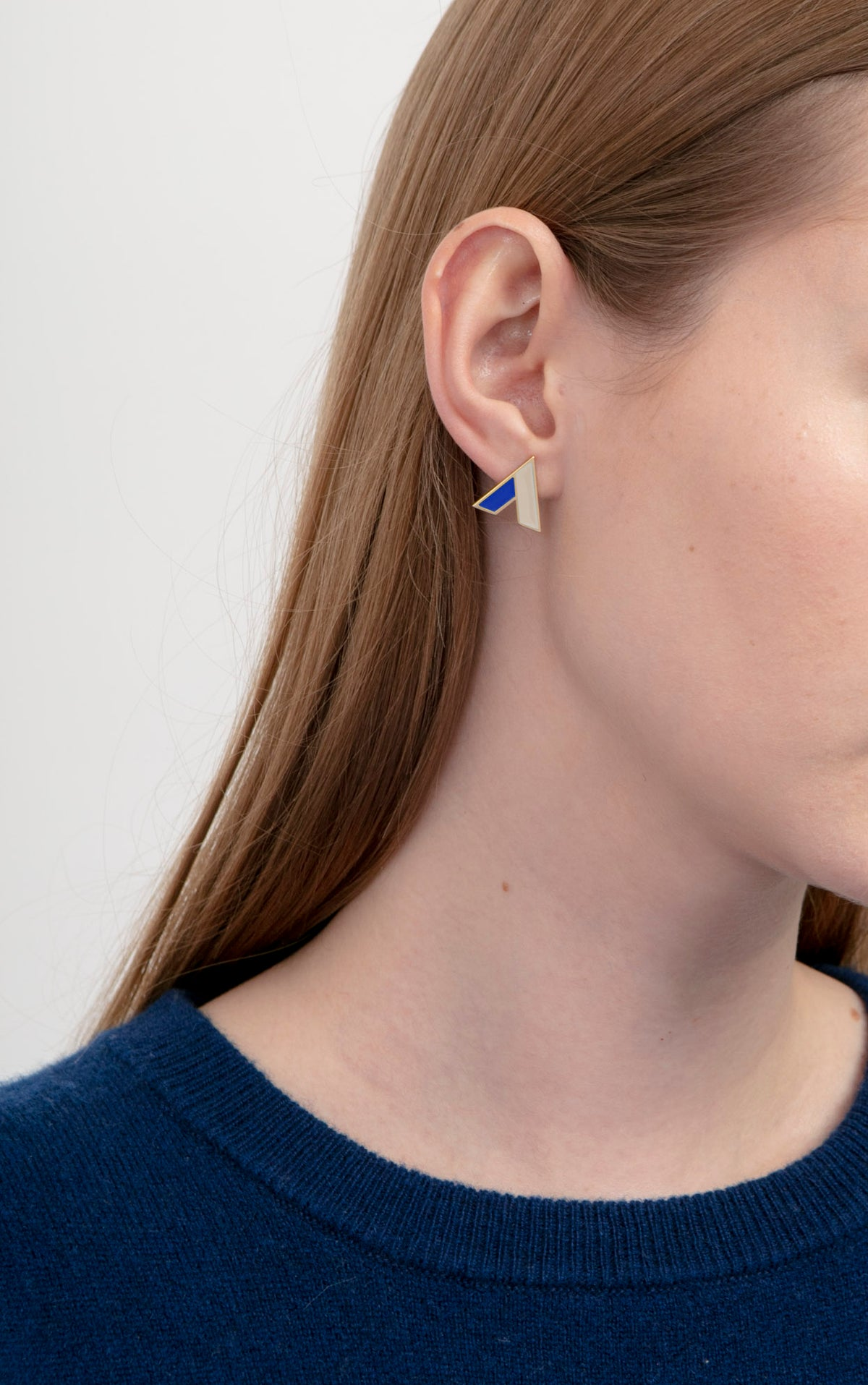 Image of The A Earrings • Stainless steel • Silver - new colors