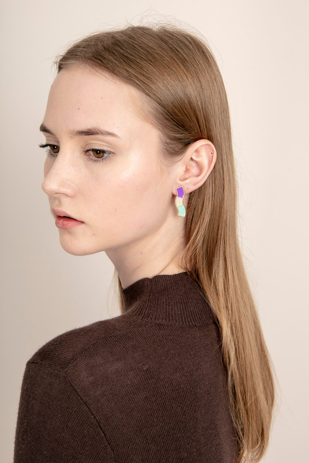 Wave Studs • Stainless steel • Silver