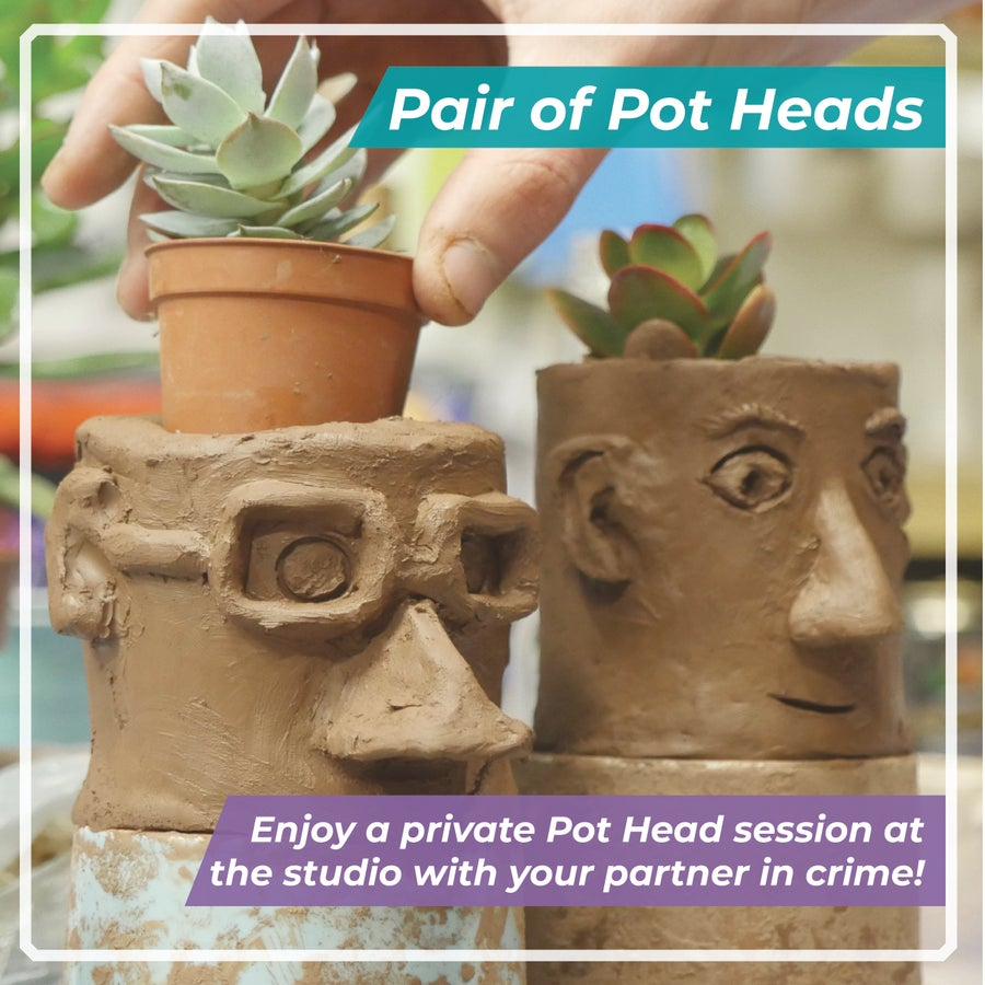 Image of Pair Of Pot Heads / Studio Sesh for 2 Potters