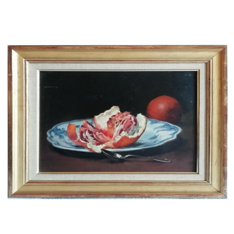 Image of Early 20th Century Still Life, 'Valencian Plate with Oranges,'