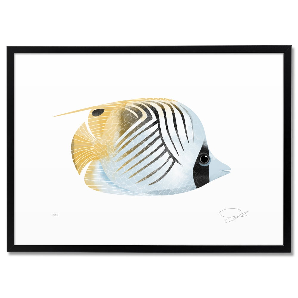 Image of Print: Threadfin Butterflyfish